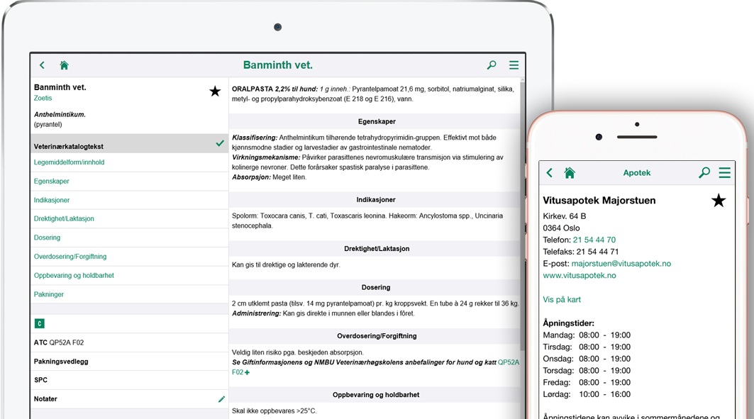 Veterinærkatalogen Mobile Application